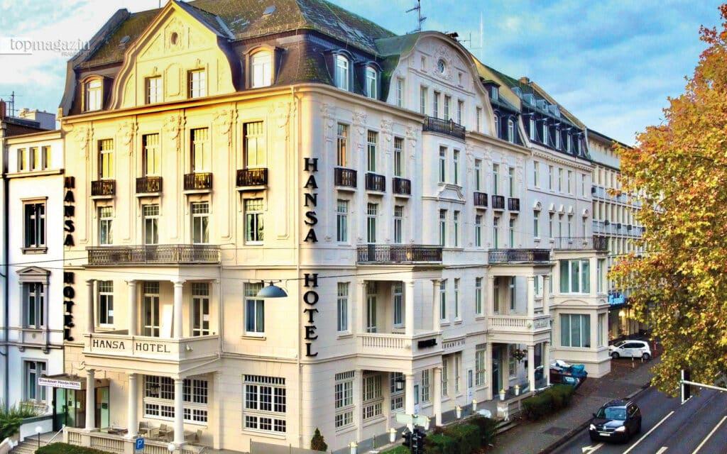 Die Fassade des Hansa Hotels strahlt in neuem Glanz