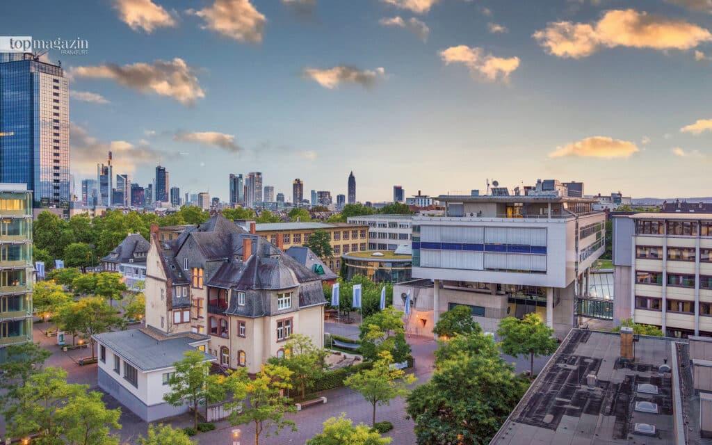 Im Herzen von Frankfurt- Der Campus der Frankfurt UAS liegt zentral im schönen Nordend, umgebend von Cafés, Geschäften, Restaurants und Bars