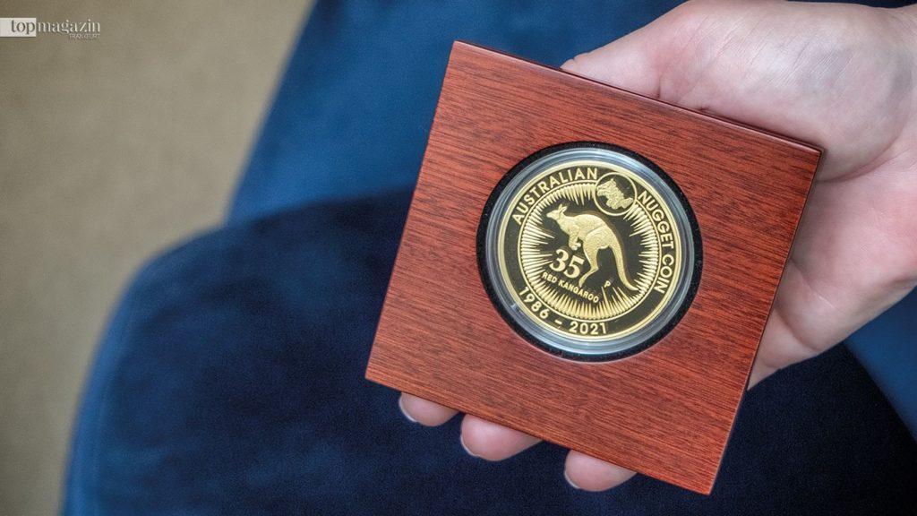 Die Australian Gold Nugget Gedenkmünze aus reinem Gold ist streng limitiert auf 75 Exemplare