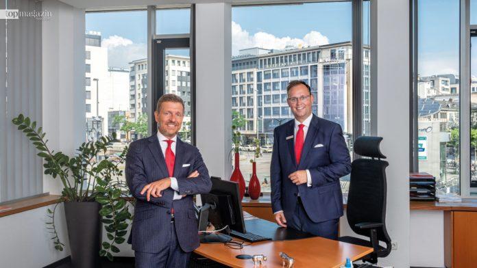 Stefan Hohmann und Stephan Kietzmann im Private Banking-Center an der Hauptwache in Frankfurt