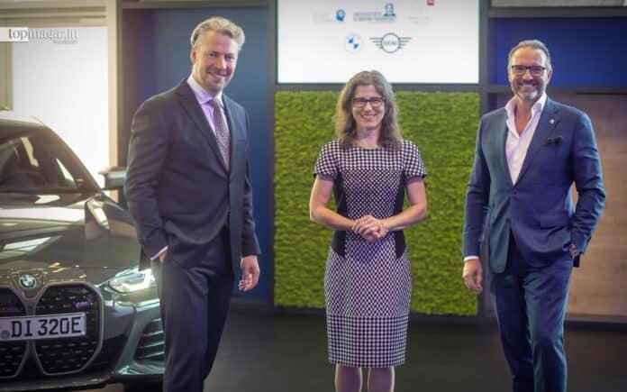 Gemeinsam für die gute Sache: Axel Juhre (BMW Hessen), Prof. Dr. Christine Freitag (Uniklinik Frankfurt) und Dr. Michael Henning (Kinderhilfestiftung) (Foto Patrick Liste)