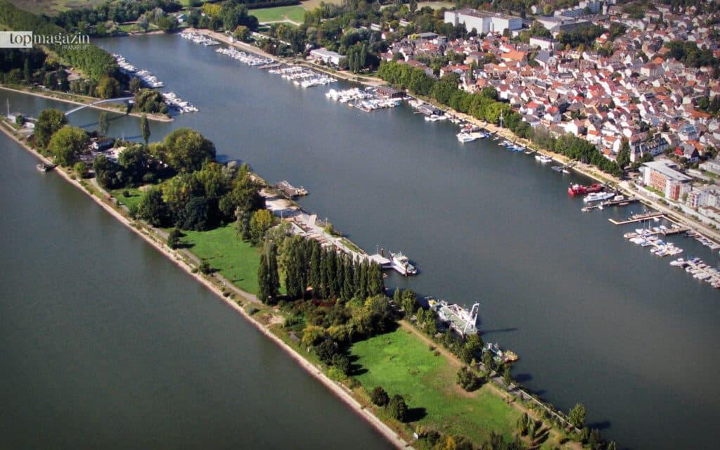 Hier kommt maritimes Flair auf: Im Schiersteiner Hafen treffen sich Stand-Up-Paddler, Ruderer, Drachenbootfahrer und Sportbootbesitzer