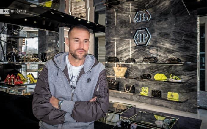 Star-Designer Philipp Plein in seinem ersten Store in Frankfurt