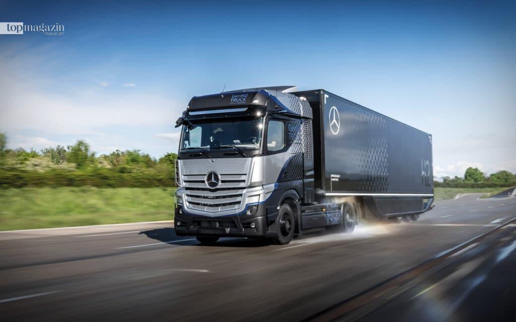 Der Mercedes-Benz GenH2 Truck - Ziel sind Reichweiten von bis zu 1.000 Kilometer und mehr ohne Tank-Zwischenstopp