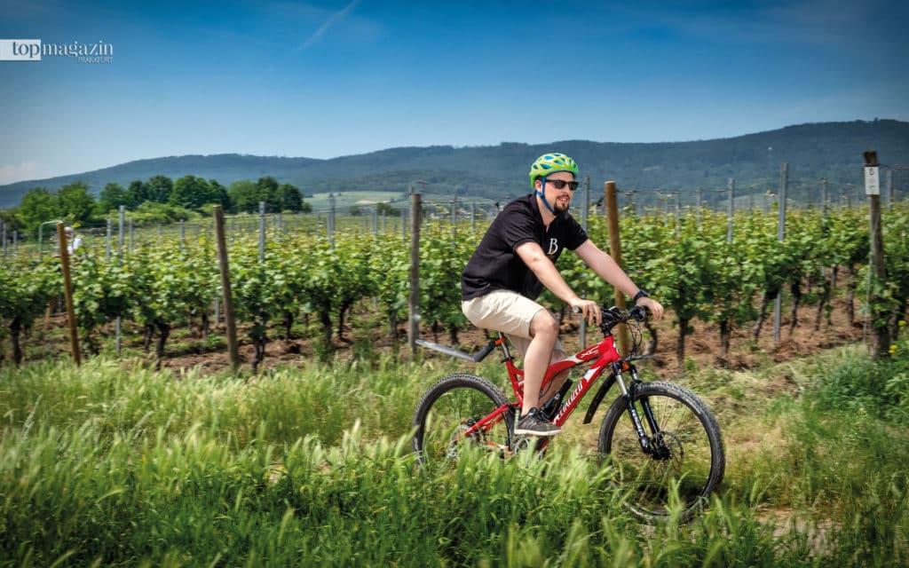 Mark Barths Route beginnt mit der Strecke durch die eigenen Weinberge in Hattenheim