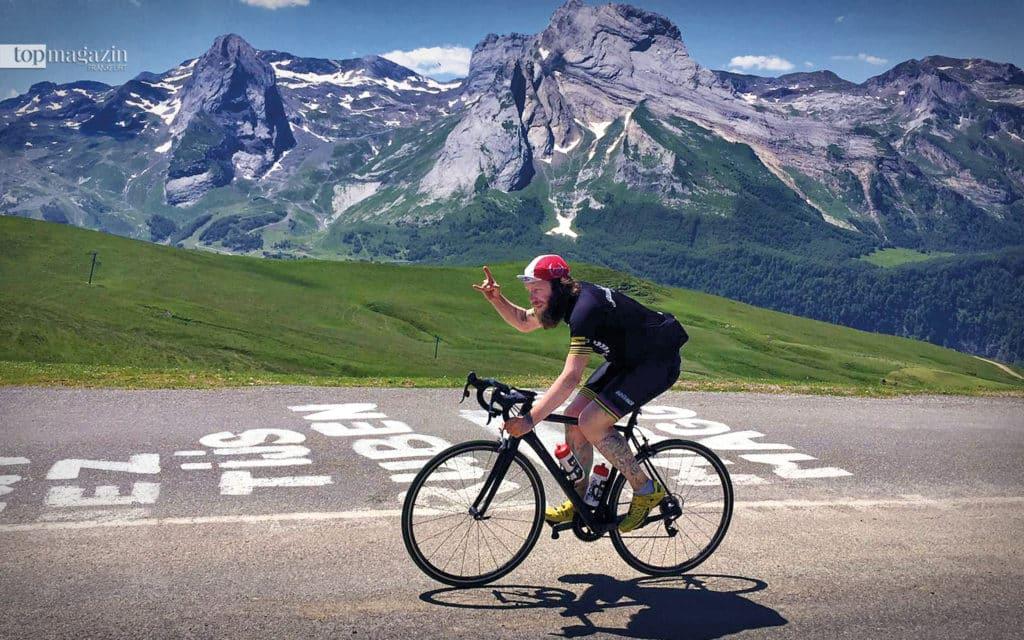 Ziel erreicht! Nach einem Jahr Training strampelt Jöckel in acht Tagen über die Alpenpässe von Frankfurt nach St. Tropez