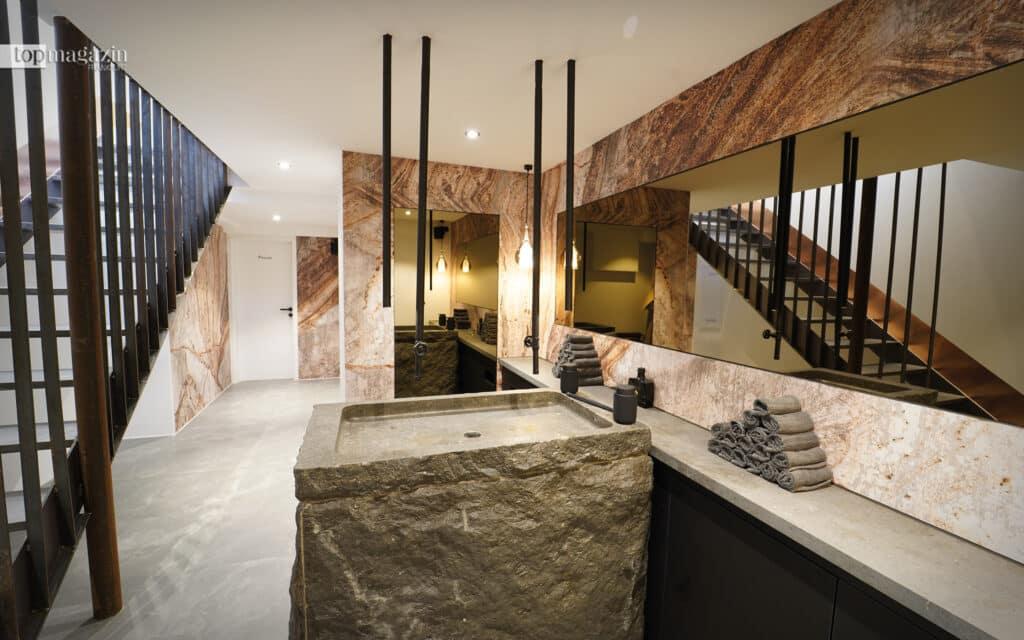 Der Sanitärbereich im Concept-Store
