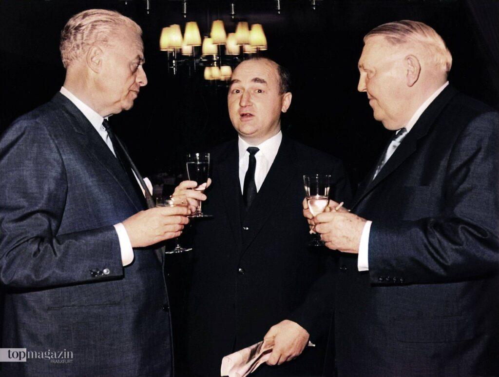 Ernst Gerhardt mit Ludwig Erhard und Wilhelm Fay (Foto Joppen)