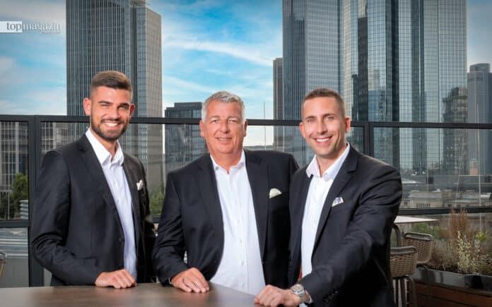 Family Business- Tigernachus, Uwe und Robin Schäfer auf dem Rooftop des Sofitel Alte Oper