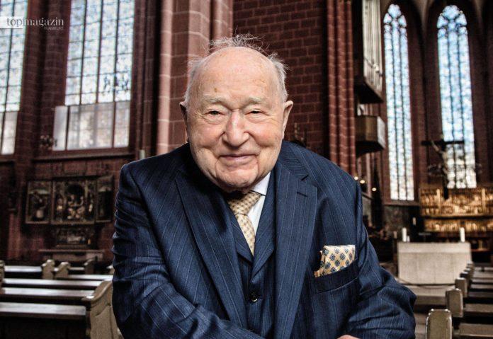 Stadtkämmerer a. D. Dr. h.c. Ernst Gerhardt wird heute 100 Jahre alt (Foto Holger Peters)
