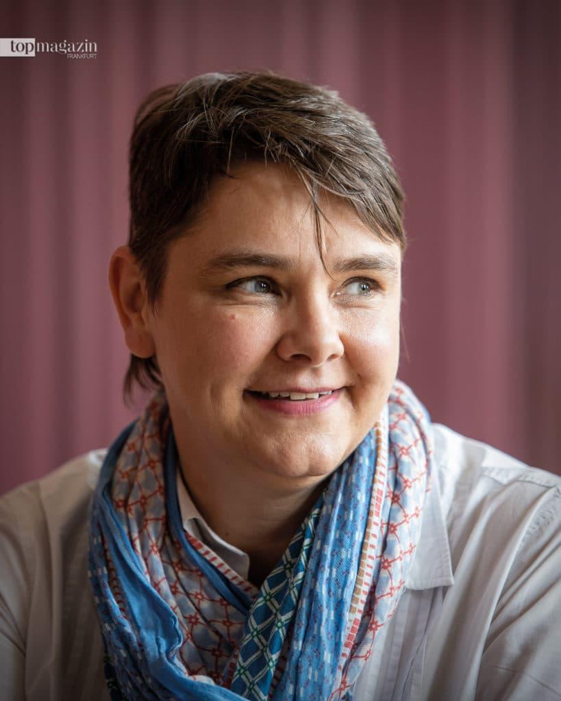 Braucht gute Nerven- Katja Hilbig, Leiterin des Ausstellungsdienstes im Städelmuseum. Ihr Job endet erst dann, wenn die Besucher kommen (Foto Helmut Fricke)