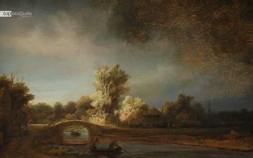 Rembrandt Harmensz. van Rijn (1606–1669) Landschaft mit Steinbrücke, um 1638 Rijksmuseum, Amsterdam, erworben mit Unterstützung der Vereinigung Rembrandt und A. Bredius, Amsterdam